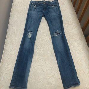 Designer ripped jeans